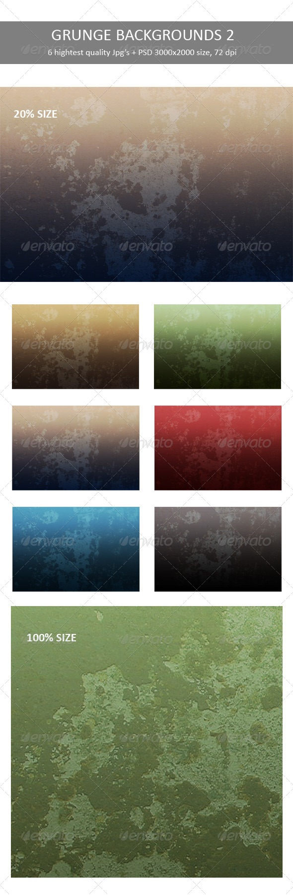 Grunge Backgrounds 2 - Backgrounds Graphics