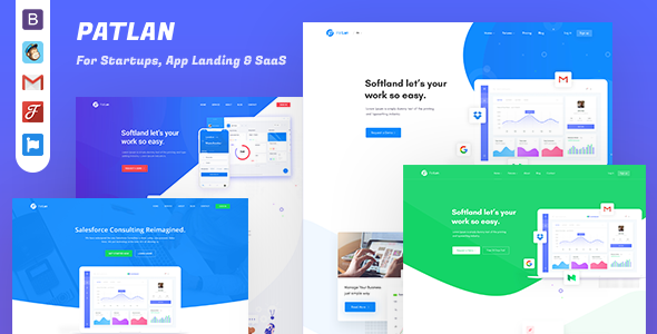 PatLan - Agency, Startup and SaaS Landing Page Template by CODASTROID