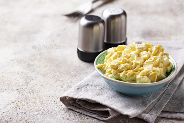 Egg salad, traditional American food - Stock Photo - Images