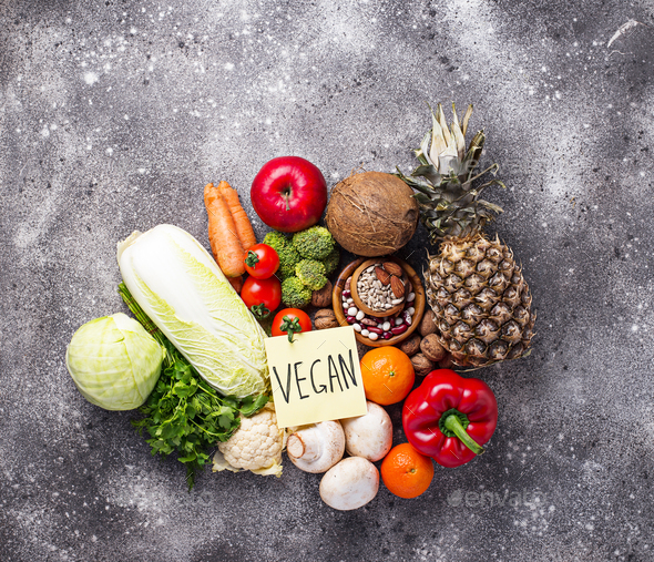 Set of different vegetarian and vegan products - Stock Photo - Images
