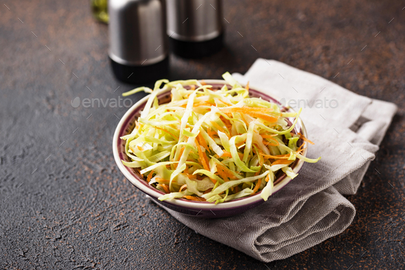 Coleslaw with cabbage, traditional American salad - Stock Photo - Images