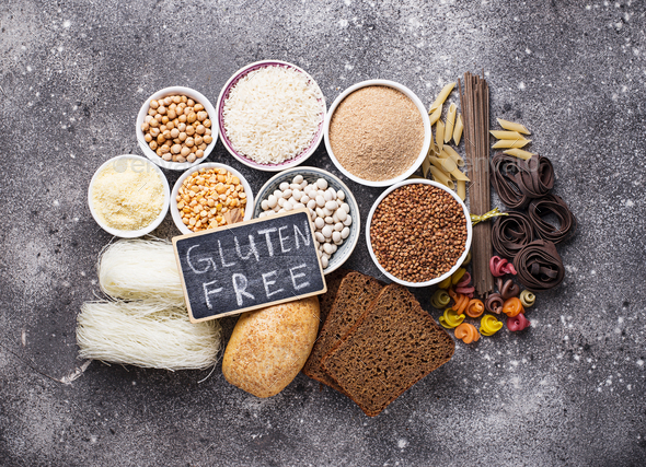 Set of gluten free products - Stock Photo - Images