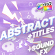 Abstract Elements And Titles | FCPX - VideoHive Item for Sale