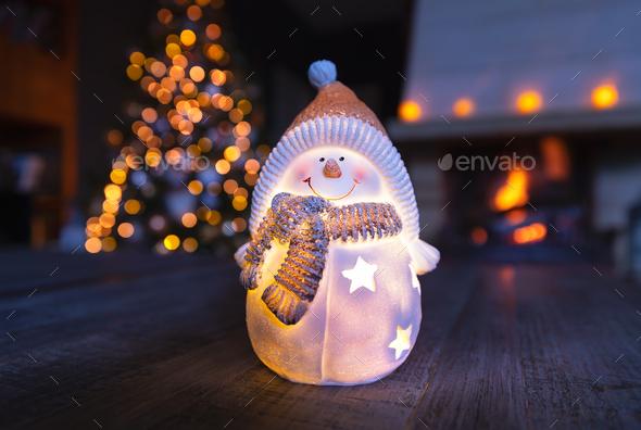 Stylish Christmas home decoration - Stock Photo - Images
