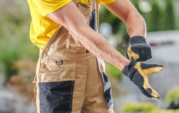 Wearing Safety Gloves - Stock Photo - Images