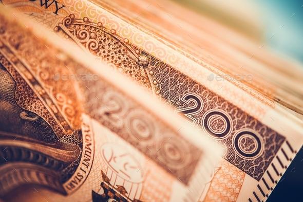 Polish Zloty Banknotes - Stock Photo - Images
