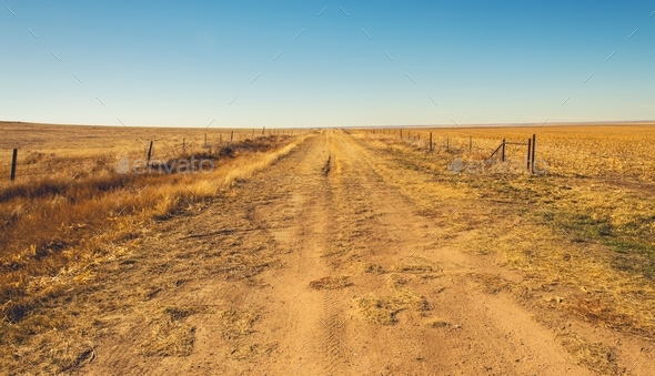 Colorado Countryside Road - Stock Photo - Images