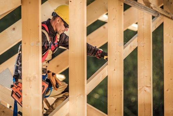 Wood Construction Job - Stock Photo - Images