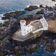 Aerial view of Praia lighthouse in Santiago - Capital of Cape Verde Islands - Cabo Verde - PhotoDune Item for Sale