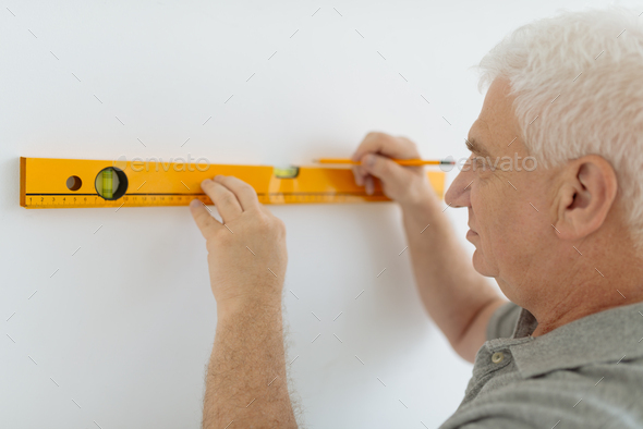 Measuring wall - Stock Photo - Images