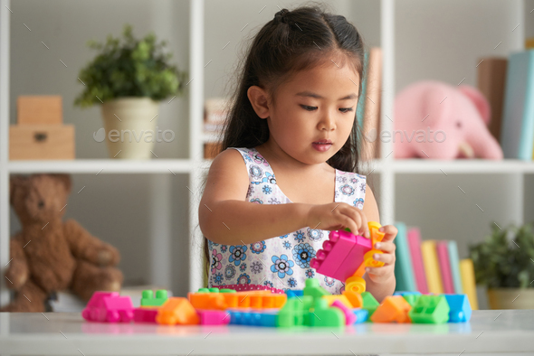 Playing girl - Stock Photo - Images