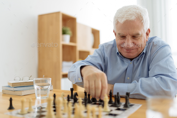 Playing chess - Stock Photo - Images