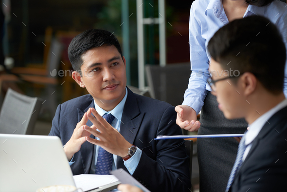 Meeting with business partners - Stock Photo - Images