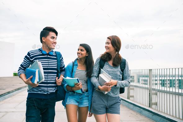 Happy students - Stock Photo - Images