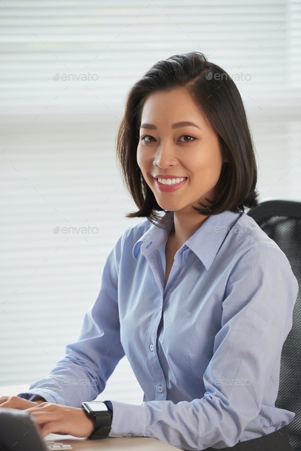 Happy business lady - Stock Photo - Images