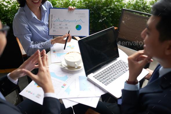 Explaining business data - Stock Photo - Images
