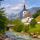 Alpine church with a mountain stream in Germany - PhotoDune Item for Sale