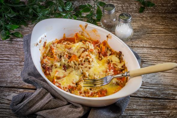 Macaroni casserole. - Stock Photo - Images