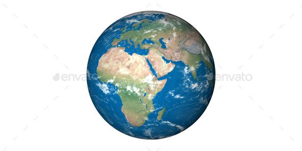 earth planet globe white background - Stock Photo - Images