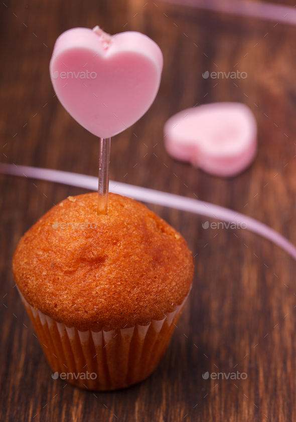 Mini muffin holiday Valentine's day - Stock Photo - Images