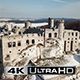 Aerial View of Ruined Medieval Ogrodzieniec Castle in the Semi-Mountainous Highland in Poland - VideoHive Item for Sale