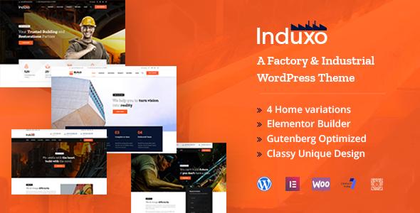 Induxo - Factory & Industrial WordPress Theme