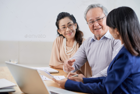 Sharing creative Ideas with Clients - Stock Photo - Images