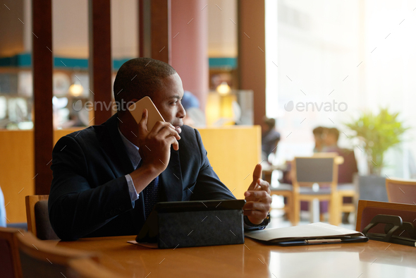 Calling businessman - Stock Photo - Images
