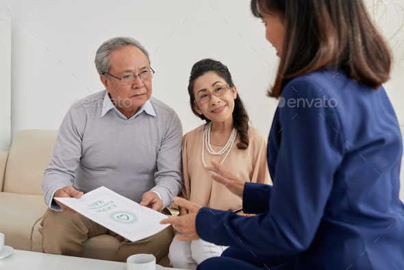 Insurance Agent at Work - Stock Photo - Images