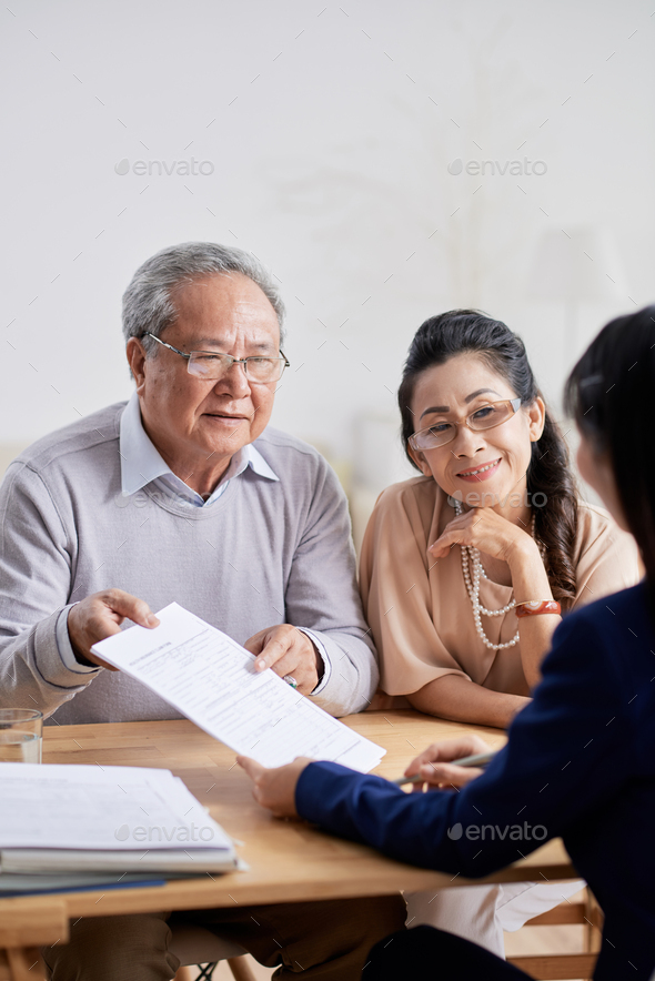 Productive Discussion with Estate Agent - Stock Photo - Images