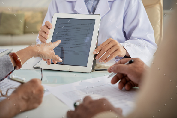 Filling in Medical Form - Stock Photo - Images