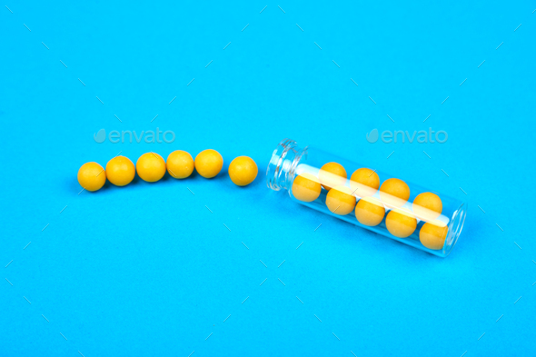 Minimalism style template for medical pills blog. - Stock Photo - Images