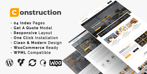 Construction - Building Business and Renovation WordPress Theme