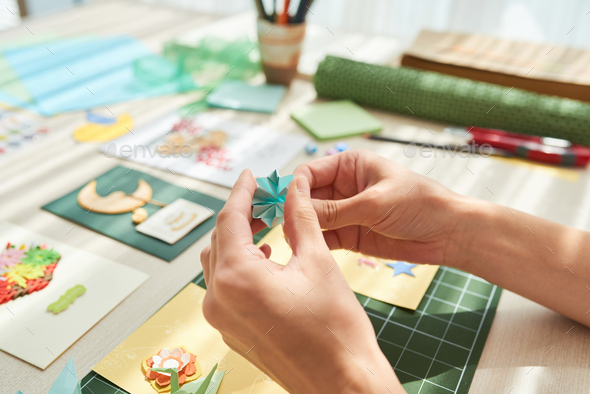 Wrapped up in Creative Activity - Stock Photo - Images