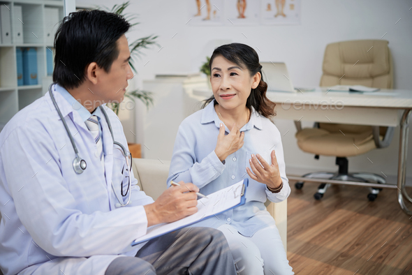 Senior Patient Visiting Physician - Stock Photo - Images