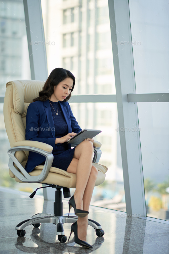 Asian Entrepreneur at Modern Office - Stock Photo - Images