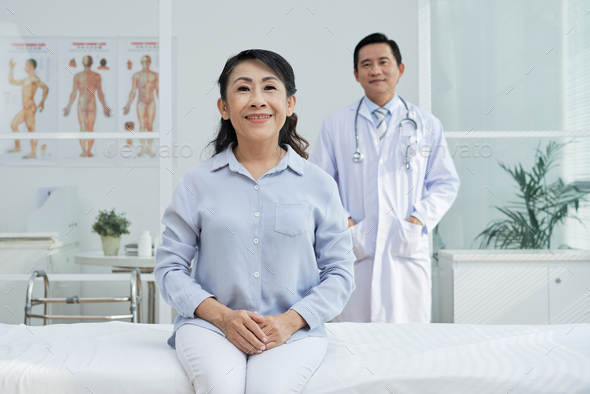 Smiling Senior Patient Posing for Photography - Stock Photo - Images
