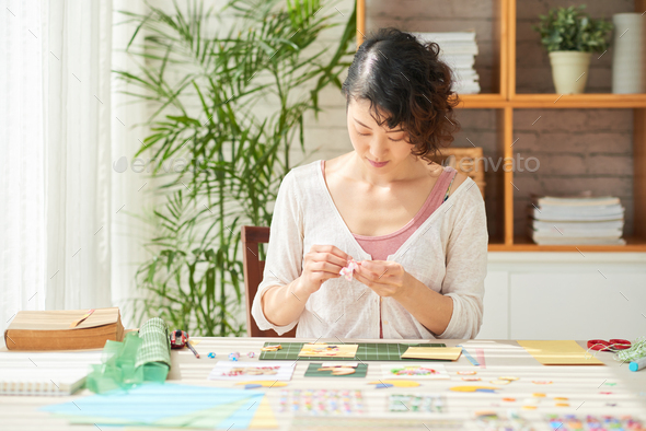 Creation of Handmade Gifts - Stock Photo - Images