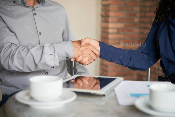 Firm Handshake of Business Partners - Stock Photo - Images