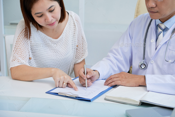 Pretty Patient at Physician Office - Stock Photo - Images