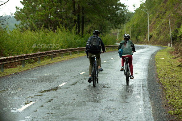 Cycling together - Stock Photo - Images