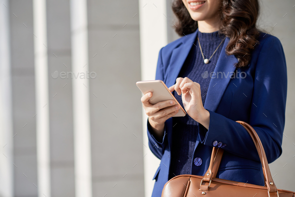 Browsing Internet Outdoors - Stock Photo - Images