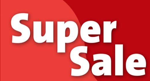 SUPER SALE 75% OFF