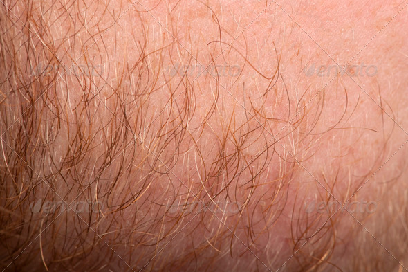 Close-up of human skin with hair - Stock Photo - Images