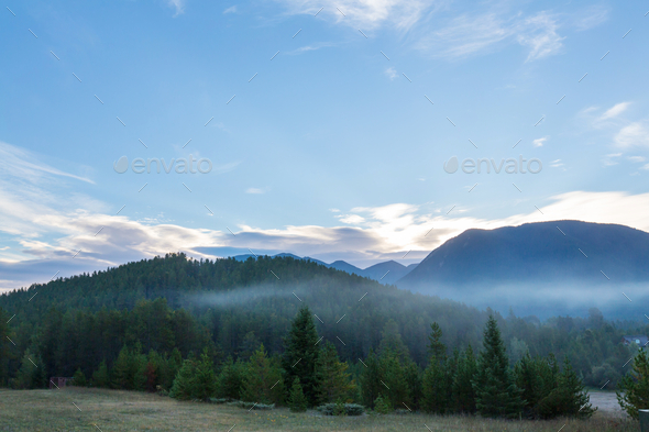 Fog in the mountains - Stock Photo - Images