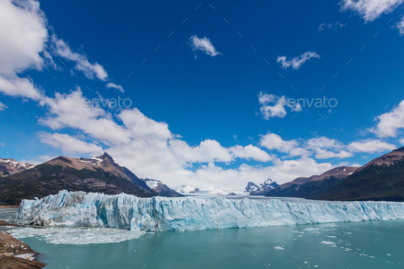 Glacier in Argentina - Stock Photo - Images