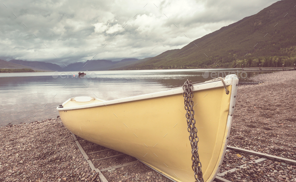 Boat on the lake - Stock Photo - Images