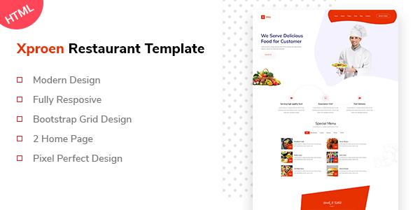 Xproen Restaurant Html Template