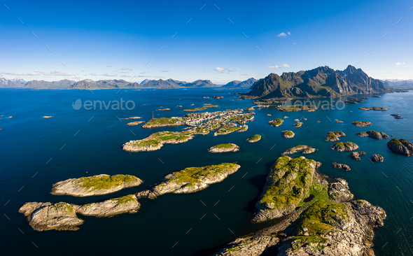 Henningsvaer Lofoten is an archipelago in the county of Nordland, Norway. - Stock Photo - Images