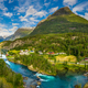 Panorama lovatnet lake Beautiful Nature Norway. - PhotoDune Item for Sale
